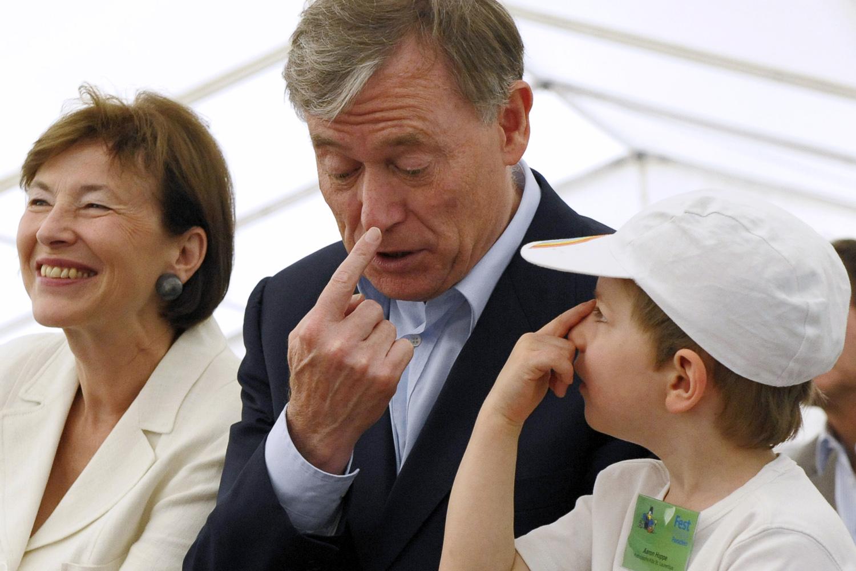 Bundespräsident Köhler empfängt Kleine Forscher