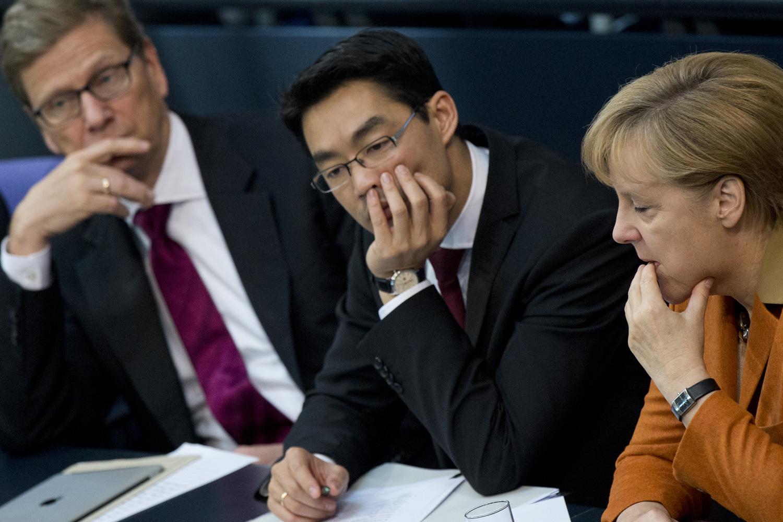 Auf der Regierungsbank des Bundestags