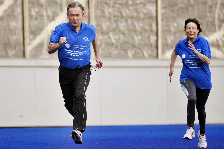 Bundespräsident Horst Köhler sprintet