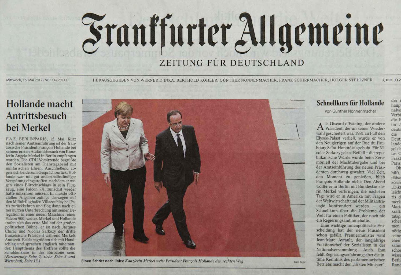 Frankfurter Allgemeine Zeitung, 16.05.12