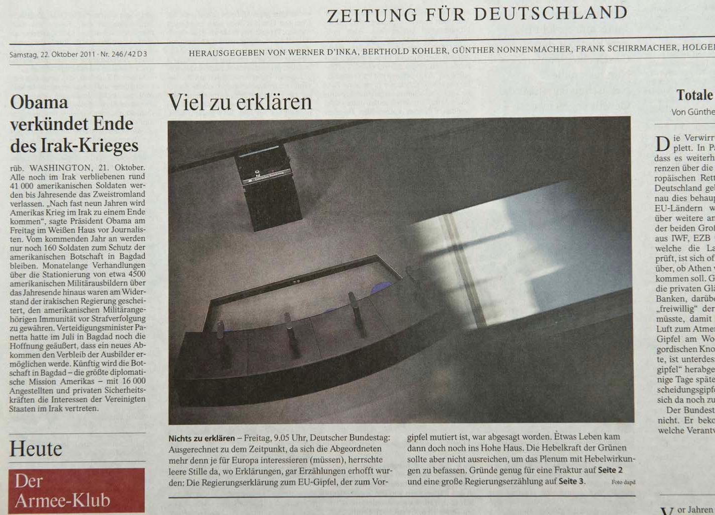Frankfurter Allgemeine Zeitung, 22.10.11