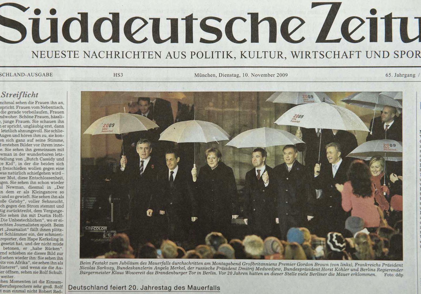 Süddeutsche Zeitung, 19.10.09